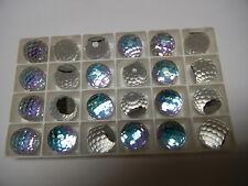 6 swarovski crystal 3/4 flatback disco balls,16mm vitrail light Z #4861