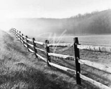 Monte Nagler Vanishing Fence black and white photo print hills wood farm poster