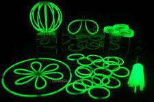 "50- 8"" Green Glow Stick Bracelets Party Pack"