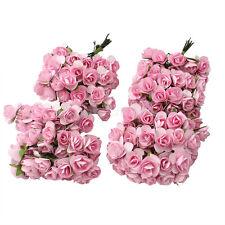 144 x light pink paper tea rose Small Wedding Favour Cake Mini Flower Decoration