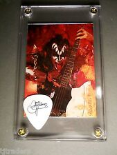 KISS Gene Simmons tour guitar pick / Axe bass card display -most popular display