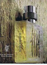 PUBLICITE ADVERTISING 045 1990 NINO CERRUTTI pour homme