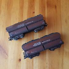 Deux wagons ROCO pour MÄRKLIN H0 RAG Ruhrkohle AG Essieux trois rails (Lot N° 2)
