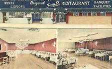 Original Pauls Restaurant Advertising Postcard Brooklyn New York