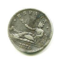 2 pesetas plata I REPUBLICA DE M  1870   * 18 , 75