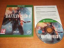 Battlefield 1 One-MICROSOFT XBOX PAL JUEGO v.g.c. rápido post ONE