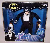 "Batman Penguin Gotham City Villains 9"" Figure & 2 Penguins NIB Sealed"