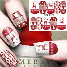 1 Sheet Christmas Water Transfer Nail Art Decoration Stickers Decals F Yzw 2129