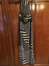 Stripe  long halter Neck dress Size M