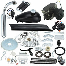 New Black 50CC Bike 2 Stroke Gas Engine Motor Kit DIY Motorized Bicycle