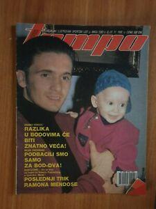 magazine TEMPO 1393 foorball Predrag Mijatovic cover Dragan Dzajic poster 1992
