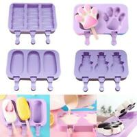 Frozen Ice Cream DIY Mold Popsicle Makers Lolly Mould Stick Silicone Summer.
