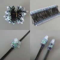 100pcs Black Wire WS2811 LED Pixel Digital Diffused 12mm RGB Light P68 5V 12V