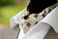 Woven silk Men's Cravat Ascot Mens Tie Silk Day Cravat Ascot 065