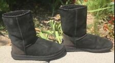 UGGs BOOTS Australia Classic Mid Calf BLACK SUEDE Womens Winter shoes Authentic