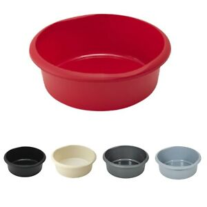 Addis Round 7.7L Washing Up Bowl Basin Sink with Raised Feet for Water Flow