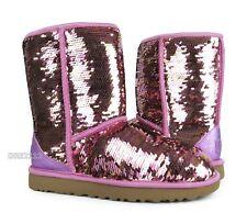UGG Australia Classic Short Sequin Pink Sparkles Boots Womens Size 5 ~NIB~
