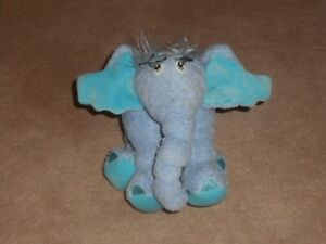 "Dr Seuss Horton Hears a Who 6"" Horton Elephant Plush 2001 Manhattan Toys"