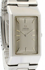 OMEGA DeVille Automatic Silver Dial Rectangle Men's Watch RARE