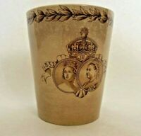 1887 Golden Jubilee of Queen Victoria Royal Doulton Burslem Tall Beaker Cup