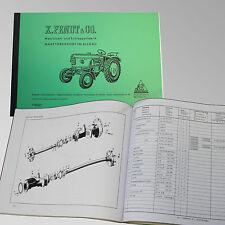 Fendt Ersatzteilliste für Dieselross FL 116 Traktor Schlepper 116001