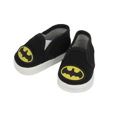 """Batman Superhero Sneakers Slip on Canvas Shoes For 18"""" American Girl Clothes"""