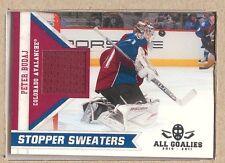 Peter Budaj  2010-11 Panini All Goalies Stopper Sweaters