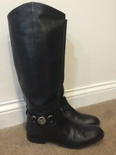 COACH Womens Mysie Knee High Black Leather Boots Size 8 US