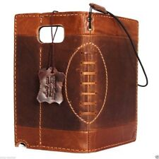 genuine real leather case for samsung galaxy note 5 book wallet Football cover R