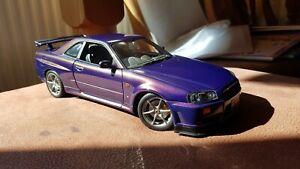Rare Autoart 1.18 Nissan Skyline R34 Midnight Purple
