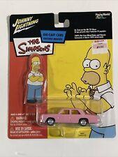 Simpsons HOMER'S SEDAN Pink Johnny Lightning New in Package