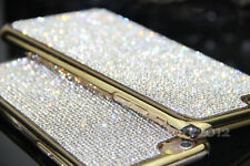 "Bling Crystal Real Diamond Slim Case Cover Skin For iPhone 7 Plus 5.5""Gold"