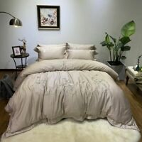 Luxury Egypt Cotton Chinese classical Bedding Set Silky Duvet Cover Bed Sheet