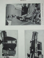 ANTIQUE PRINT DATED 1926 SIGHTS SCOTT'S TELESCOPIC SIGHT KRUPP INDEPENDENT SIGHT