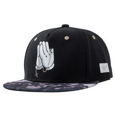 Mens Cool Snapback Hat Flat Brim Dance Bboy Hip-hop Adjustable Sun Baseball Cap