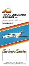 Airline Timetable - Trans-Colorado - 11/04/82 - Swearingen Metroliner photos