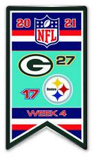 2021 Semaine 4 Bannière Broche NFL Vert Bay Packers Vs.Steelers Super Bowl
