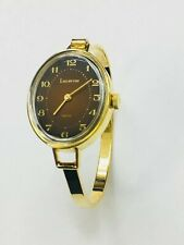 Lucerne  Swiss Vintage Ladies  Gold Tone Mechanical Windup Bangle Watch(10274M)