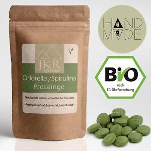 400 Stk. Bio Chlorella Spirulina Presslinge je 500mg | Algen Tabs ohne Zusätze