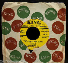 JAMES BROWN & THE FAMOUS FLAMES-The Christmas Song-Funk Promo 45-KING #45-6064
