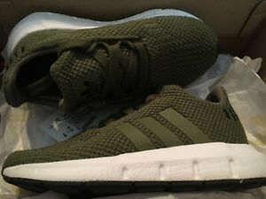 New adidas Swift Run 1 I Run Toddler Boys Sneakers Shoes Sz 7 olive green