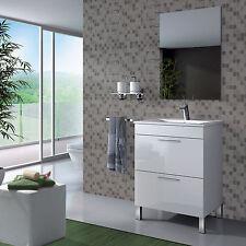 Baltic Bathroom Vanity Base Unit With Mirror High Gloss White
