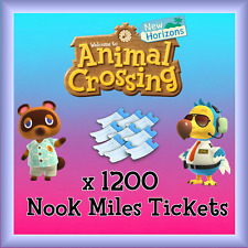 Animal 1200 NMT 🎫 Nook Miles Ticket + 3 MILLION BELLS 🔔 Crossing New Horizons
