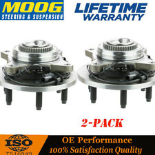 2 MOOG Front Wheel Hub & Bearing Assembly for F-150 2004-2008 w/ ABS 4WD - 4x4
