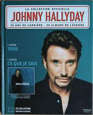 """JOHNNY HALLYDAY LA COLLECTION OFFICIELLE """"CE QUE JE SAIS""""     CD"""