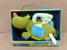 "Lilliputiens Walter Dragon 9"" Baby Activity Crib Toy Plush Stuffed Animal Rattle"