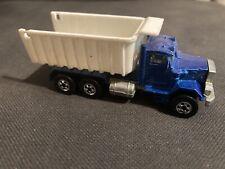 1979 Matchbox Peterbilt Blue Dump Truck Die Cast Metal 1:64 Toy Car