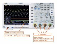 OWON XDS3064AE Oscilloscope 60MHz, 4ch 14bits standard w/Touch/I2C / SPI / RS23