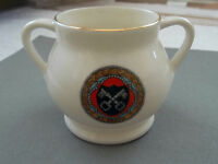 VINTAGE MODEL OF ANCIENT POSSET CUP  BY W H  GOSS CRESTED ST. ASAPH