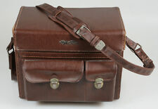 STEAMPUNK LEATHER BAG CARRYING CASE PROP HOLDER , HARD W/STRAP  LOCKING KEYS